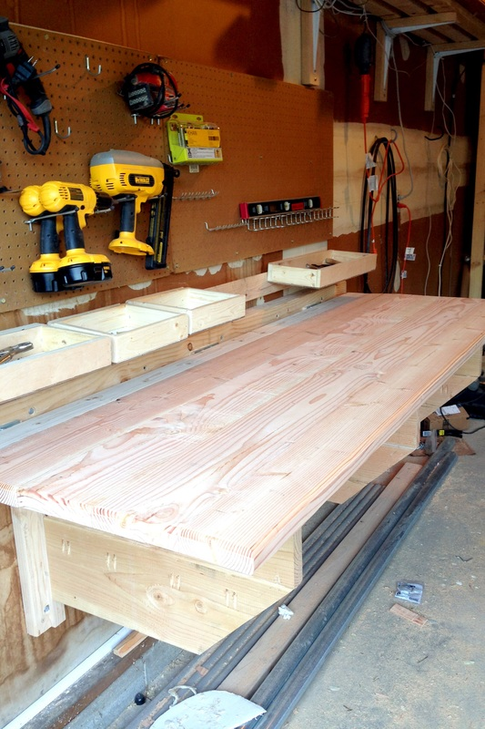 Constructing a Folding Workbench with Storage