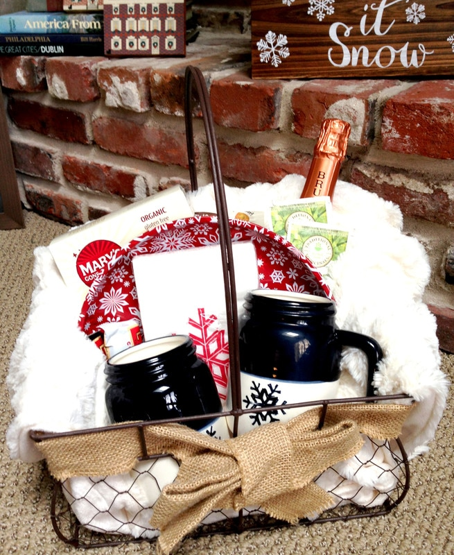 Thrifty Indoor Winter Picnic Basket - Awesome Gift Ideas