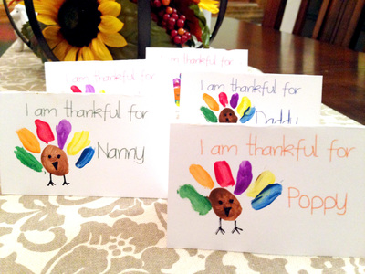 Adorable Thanksgiving Place Cards Kids Can Make
