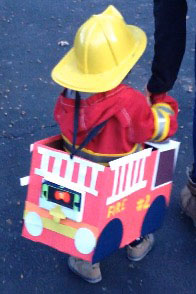 How to Make the Most Adorable Firetruck Costume – With Lights and Sound!