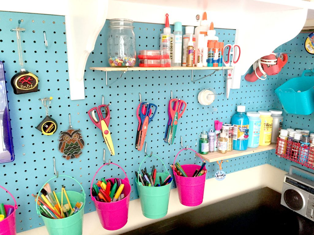 Craft Room Organization And Storage Cubby Shelves