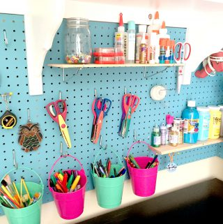 How to Install Pegboard for Craft Room Organization