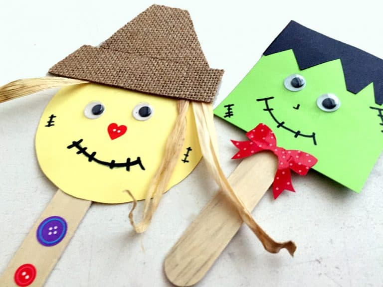 How to Make Easy Fall Puppets (With a Puppet Theater)