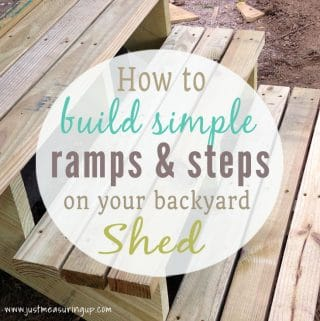 How to Build Ramps, Steps, and Custom Doors for a DIY Shed