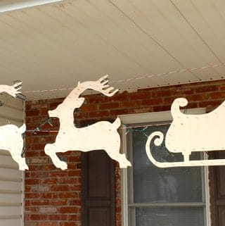 How to Make an Outdoor Reindeer & Santa Sleigh Decoration