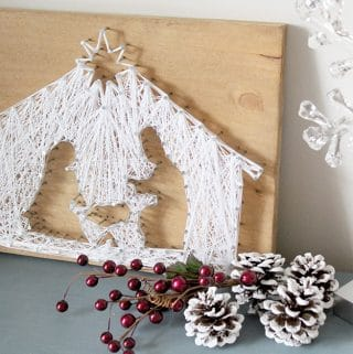 How to Make a String Art Nativity Scene