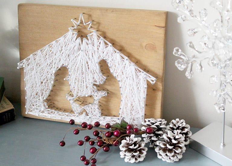 How to Make a String Art Nativity Scene