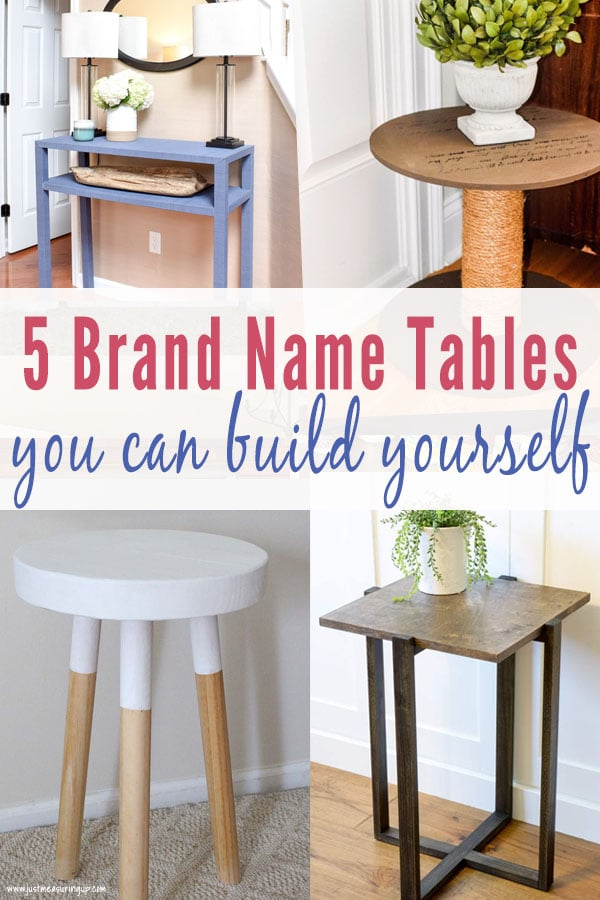 5 Name Brand End Tables You Can Easily Make for Less