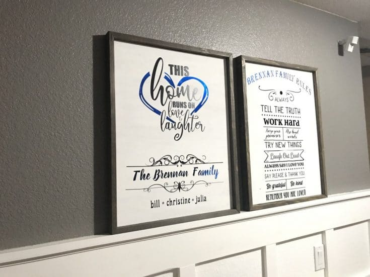 Homemade Entryway Signs