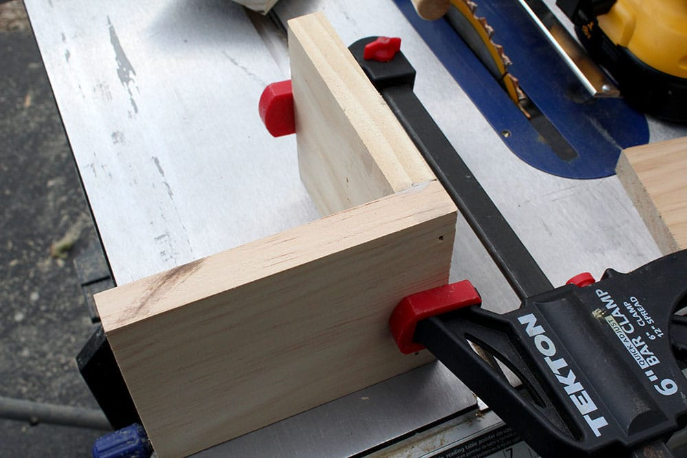 Using wood clamps to make DIY bookends