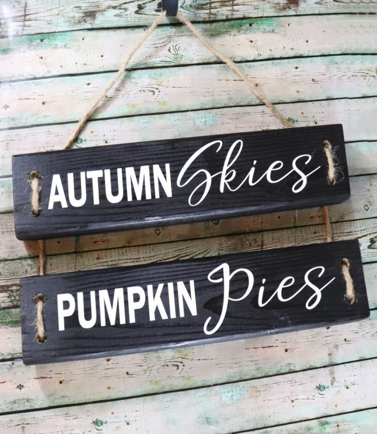 DIY Fall Wood Sign from 2x4s and Vinyl