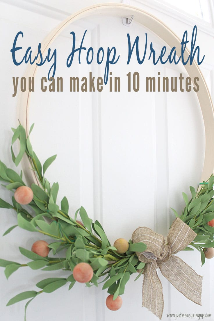 How To Make A Floral Embroidery Hoop Wreath In Just 10 Minutes