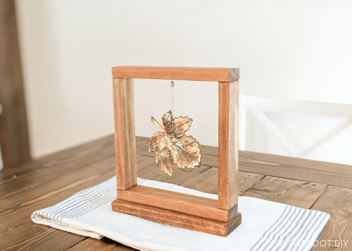 DIY Framed Leaf