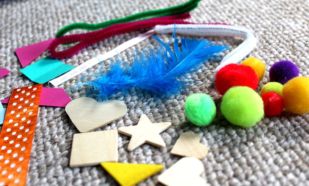 Crafty things that you can put in Easter eggs - foam shapes, pom poms, etc.