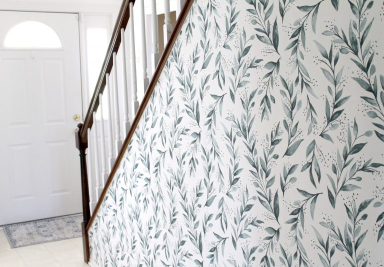 How to Wallpaper an Adorable Accent Wall in Two Hours