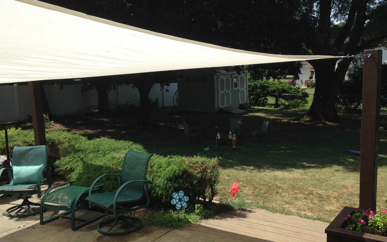 Installing a Shade Sail for the Patio