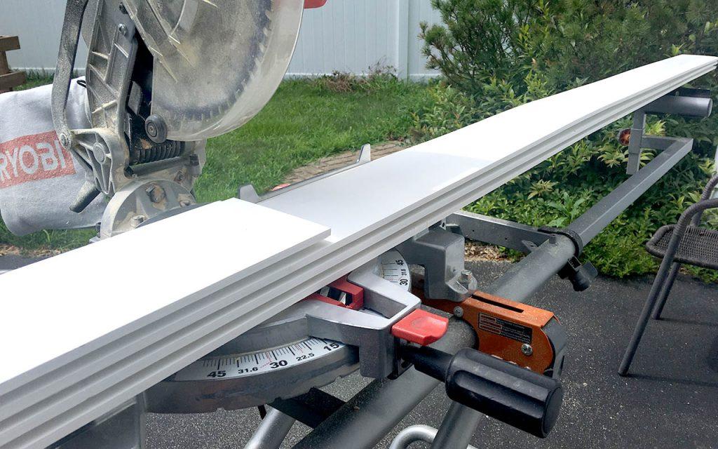 DIY Bathroom Shiplap - Cutting the Shiplap