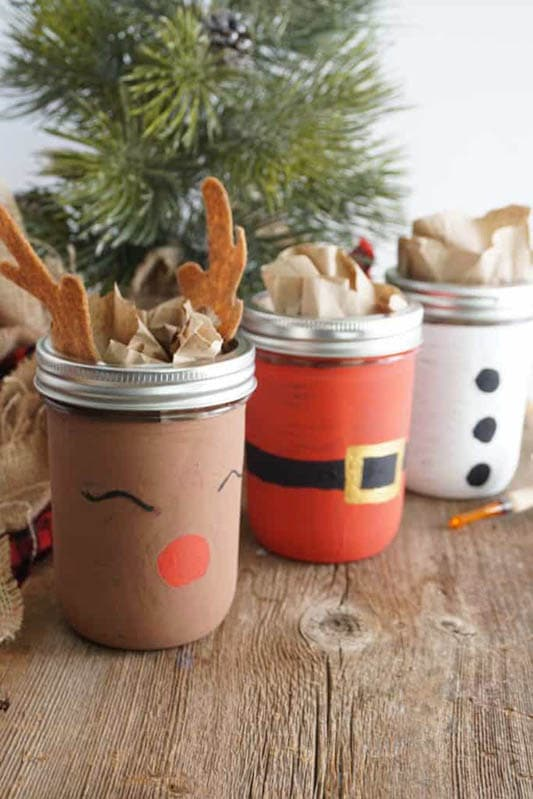 Easy Christmas Crafts for Adults | Decorative Mason Jars