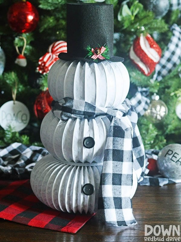 Easy Christmas Crafts for Adults | Snowman Dryer Vent