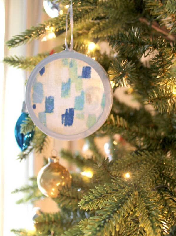 Easy Christmas Crafts for Adults | Abstract Art Ornaments